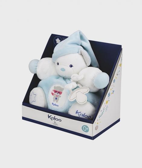 Jucarie de plus ursulet Kaloo, albastru, 25 cm