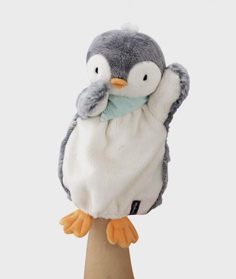 Marioneta de plus, Kaloo, Micul Pinguin, 30 cm