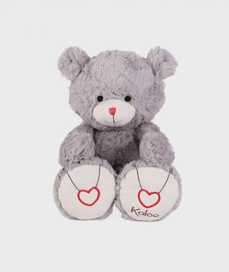 Ursulet de plus Kaloo, gri, 38 cm