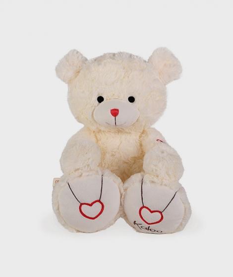 Ursulet de plus Kaloo, crem, 38 cm