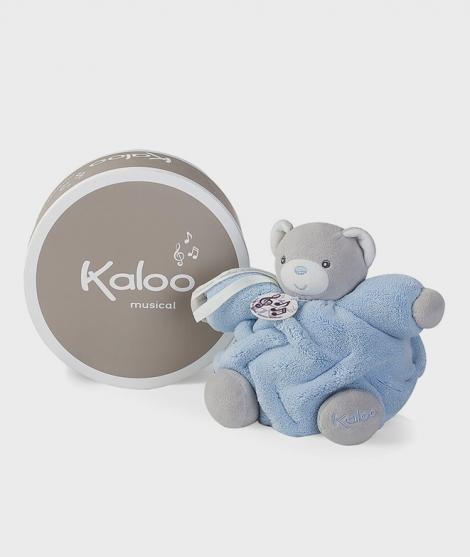 Ursulet muzical de plus Kaloo, 18 cm, albastru