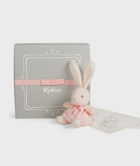 Iepuras pentru tetina, Kaloo, roz, 40 cm - ElcoKids