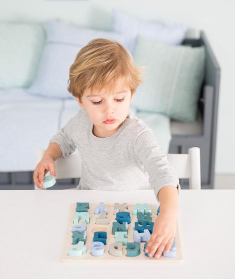 Puzzle alfabet de lemn, Adventure, Little Dutch