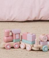 Jucarie de lemn, Little Dutch, Adventure, tren, roz - Jucarii de lemn -ElcoKids