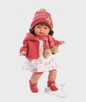 Papusa chic Lola, Llorens, 38 cm, cu suzeta - Papusi Llorens si accesorii -ElcoKids