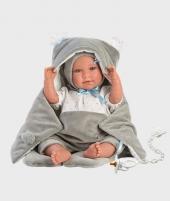 Papusa Llorens, Mimo, 42 cm, cu pijama si saculet gri - Papusi Llorens si accesorii -ElcoKids