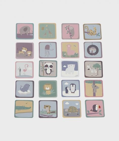 Joc de memorie, Little Dutch, zoo, 40 piese, 3 ani+