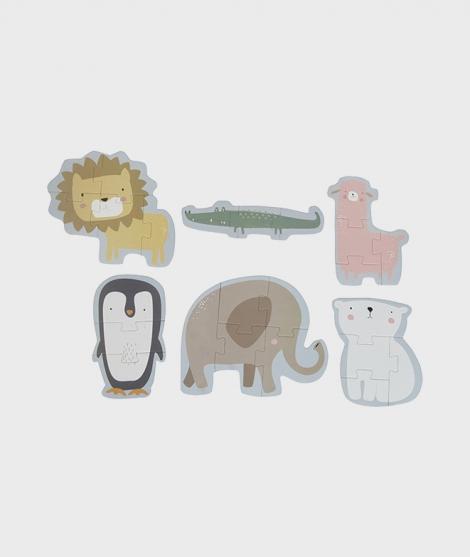 Puzzle cu animalele zoo, Little Dutch, 24 piese