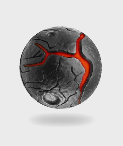 Minge Waboba, Lava Ball, rosu, 63 mm