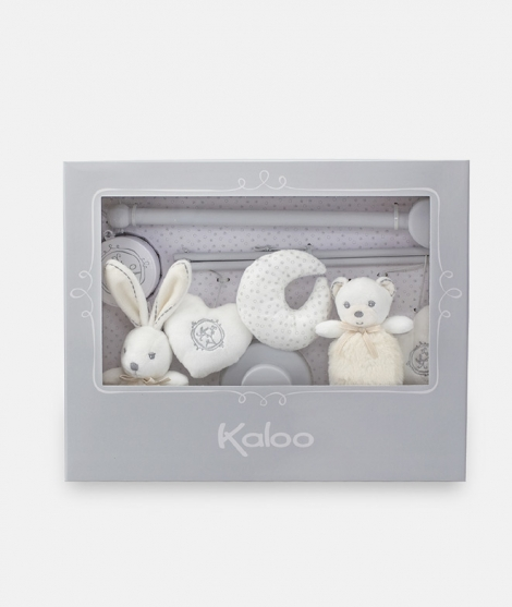 Carusel muzical, Kaloo, alb, cu animalute