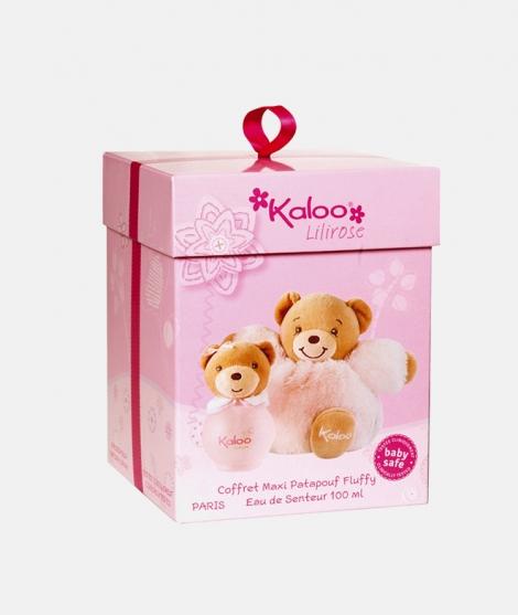 Set parfum pentru copii, Kaloo,100 ml, cu ursulet de plus roz