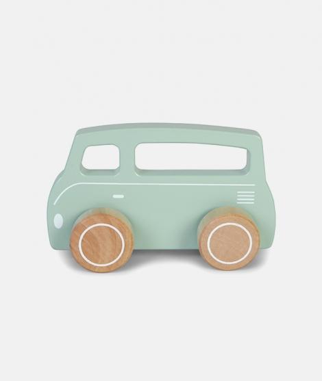 Autobuz din lemn, Little Dutch, albastru, din lemn, 12 luni+