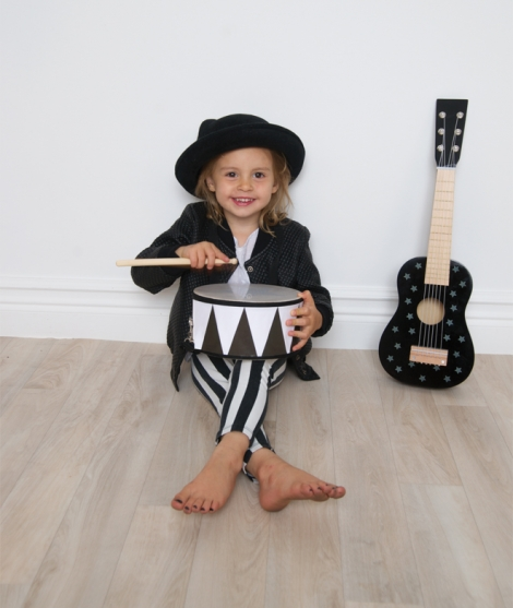 Toba pentru copii, alb cu negru, JaBaDaBaDo