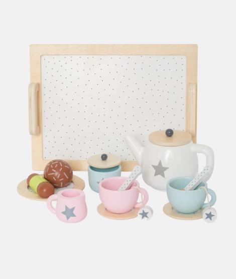 Set de ceai cu tavita si fursecuri lemn JaBaDaBaDo - Jucarii de lemn -ElcoKids