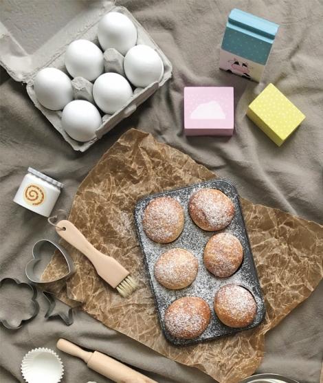 Set 6 oua, JaBaDaBaDo, din lemn, 2 ani+