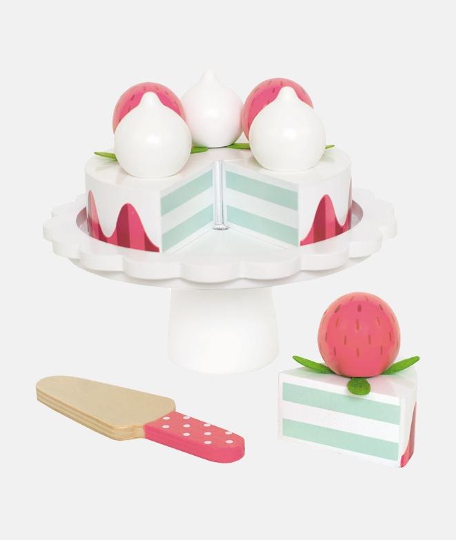 Tort cu capsuni, de lemn, JaBaDaBaDo - Jucarii de lemn -ElcoKids