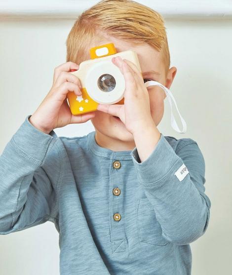 Aparat foto din lemn, Le Toy Van, portocaliu