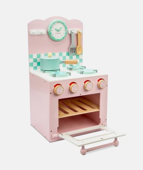 Bucatarie din lemn, Le Toy Van, roz, 3 ani+