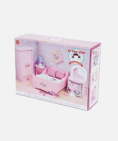 Mobilier pentru casuta, Le Toy Van, dormitor Sugar Plum, roz din lemn