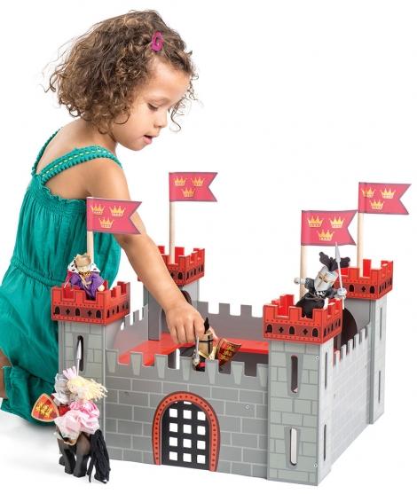 Primul meu castel, Le Toy Van, gri, din lemn