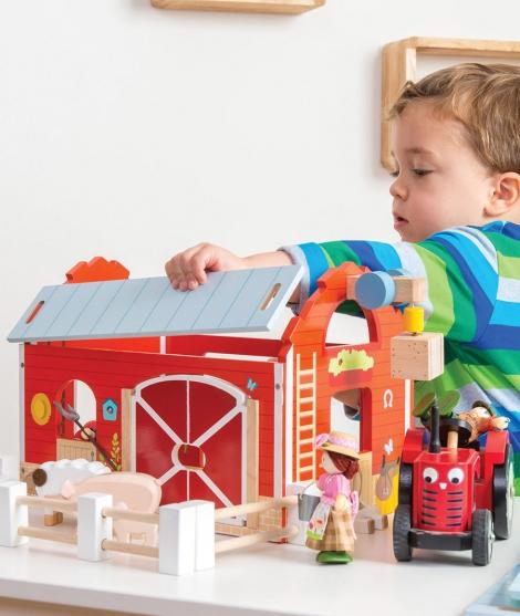 Hambar din lemn, Le Toy Van, rosu