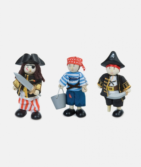 Pirati, Le Toy Van, din lemn, 3 ani+, Set 3 buc