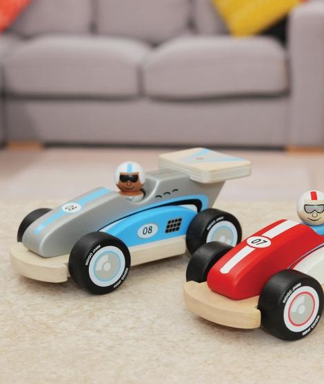 Masina de curse, Indigo Jamm, Robbie, din lemn, 18 luni+