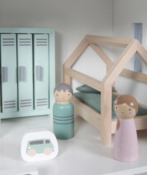 Accesorii casute papusi, Little Dutch, camera copilului, din lemn