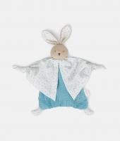 Jucarie doudou, Kaloo, iepuras, din bumbac bio, 20 cm, albastru - ElcoKids