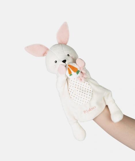 Jucarie de plus, Kaloo, marioneta Iepuras, bej, 30 cm