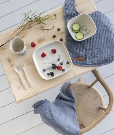 Set pentru masa copilului, Little Dutch, Polar, din bambus, 5 piese