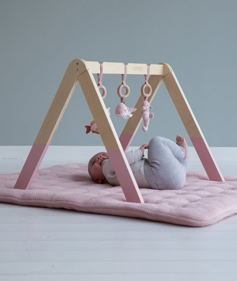 Centru de activitati Baby Gym - Ocean Pink - Little Dutch