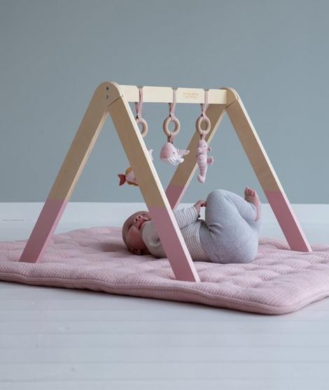 Centru de activitati, Little Dutch, Baby Gym, Ocean Pink, din lemn