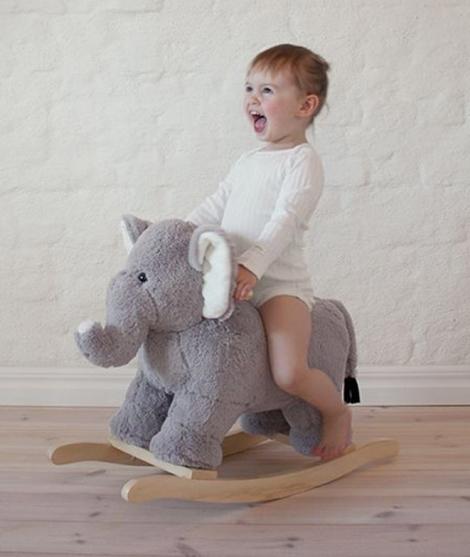 Balansoar, JaBaDaBaDo, elefant de plus, gri