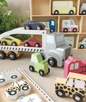 Puzzle din lemn, JaBaDaBaDo, cu masini, 18 luni+ - ElcoKids