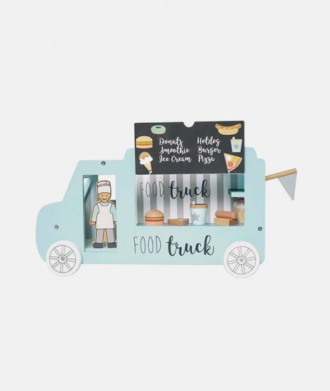 Food Truck, JaBaDaBaDo, din lemn, 10 piese, 3 ani+