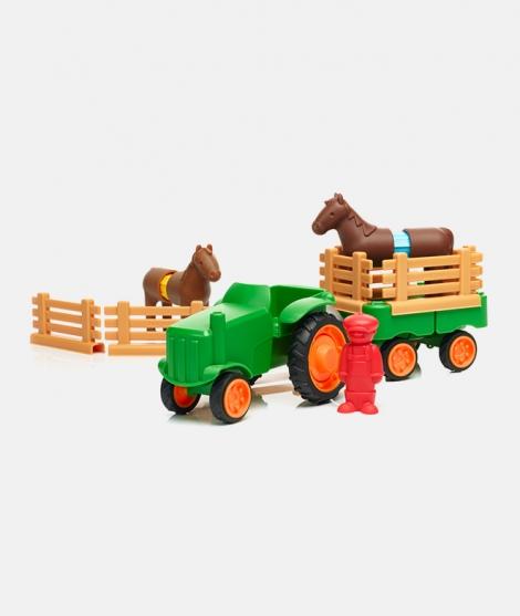Joc magnetic Primul Meu Tractor, SmartMax, 22 piese, 1,5-5 ani