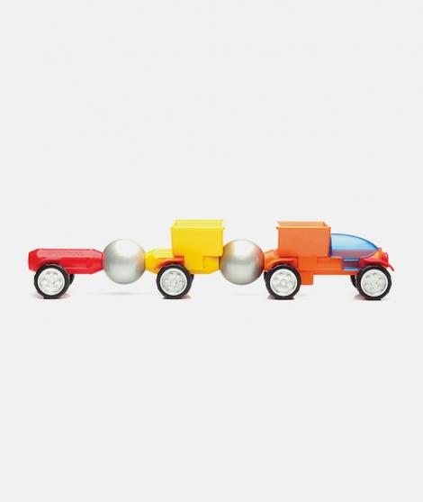 Joc magnetic SmartMax, Tomy Train, set vehicule Play