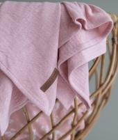 Muselina, Little Dutch, Ocean Pink, din bumbac, 120 x 120 cm - ElcoKids