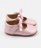 Balerini Princess, Rose et Chocolat, roz, din piele - ElcoKids