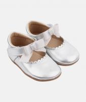 Balerini Princess, Rose et Chocolat, silver, din piele - ElcoKids