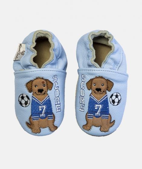 Botosei Soccer Dog, Rose et Chocolat, din piele, albastri - ElcoKids