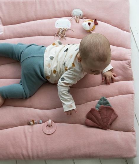 Saltea cu activitati, Little Dutch, Ocean Pink, 80 x 100 cm