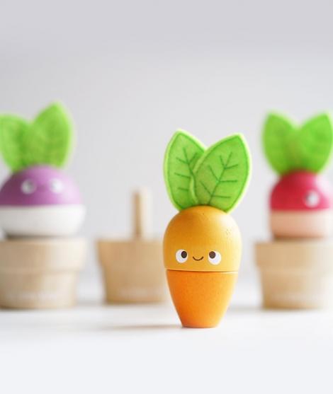 Jucarie de stivuit din lemn, Le Toy Van, legume, 18 luni+