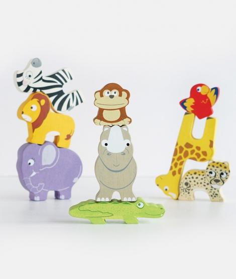 Jucarie de stivuit, Le Toy Van, animale din Africa, 18 luni+