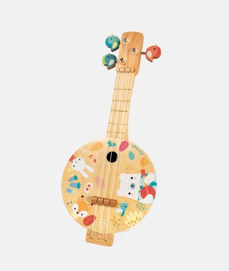 Mandolina din lemn, Janod, multicolor