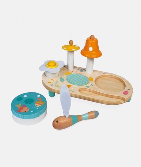 Jucarie muzicala din lemn, Janod, multicolor