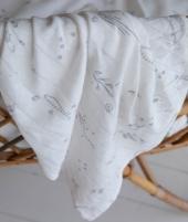 Muselina, Little Dutch, Ocean White, din bumbac, 120 x 120 cm - Museline -ElcoKids