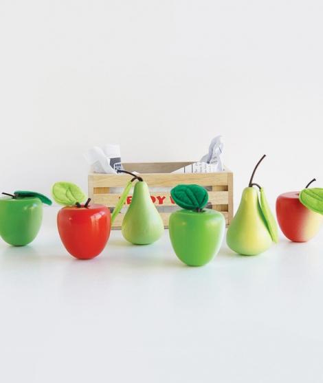 Ladita cu fructe, Le Toy Van, Mere si pere, din lemn, 2 ani+