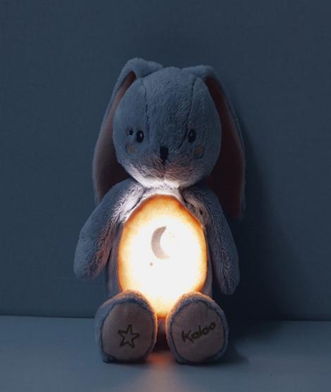 Iepuras de noapte, Kaloo, cu lumini, 20 cm